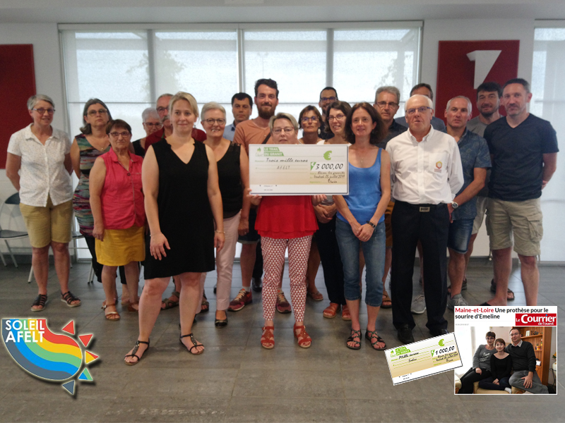 Remise du chèque 3000 € + 1000 € pour Émeline !